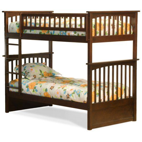 Atlantic Furniture Columbia Twin over Twin Bunk Bed - Kids Storage Beds at Hayneedle