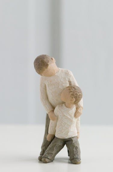 Brothers - Willow Tree Figurine - The Shabby Shed  Sentiment: Forging a bond that lasts a lifetime