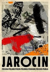 Ryszard Kaja - Jarocin, polski plakat turystyczny