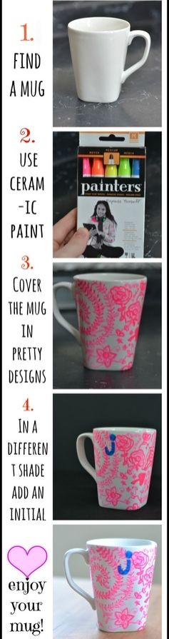 DIY Sharpie Mug Idea | Last minute gifts | Handmade Gifts