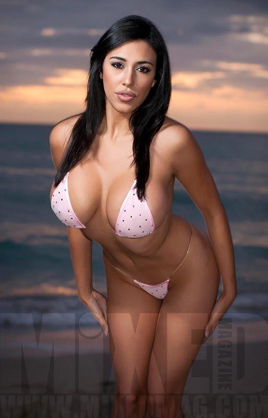 Beautiful busty sling bikini models