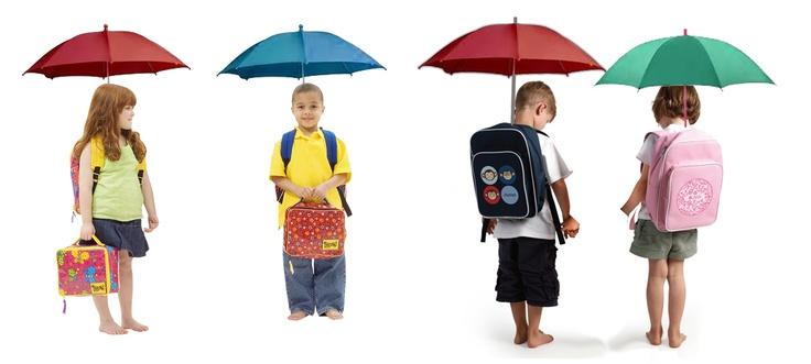 Hands free Umbrella Backpack for kids.