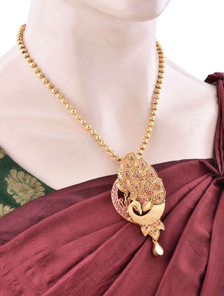 Peacock Designer Pendant Necklace