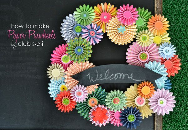 how to make paper pinwheels... Maybe use on the Centerpieces?