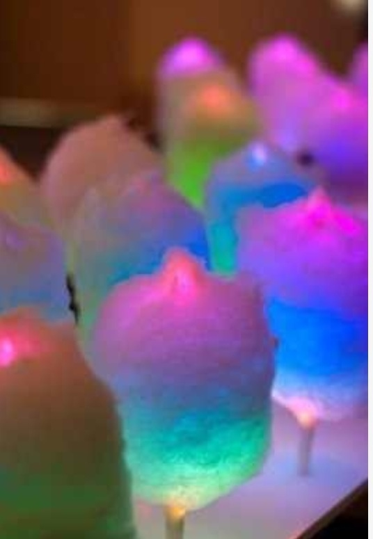 Cotton Candy on glow sticks looks like Ty-dye!