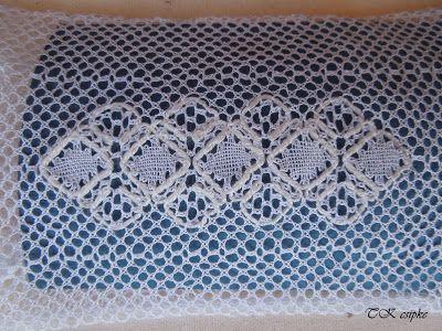 A vertcsipke kesztyű mintája