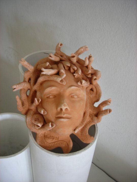 """""""la Medusa"""" maschera in argilla"""