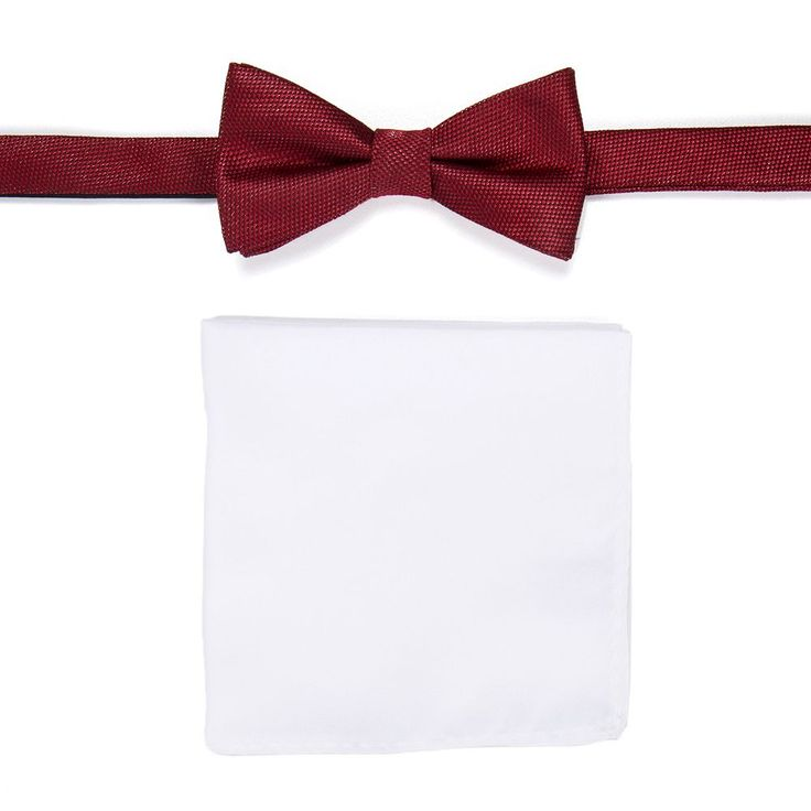Men's Apt. 9® Pre-Tied Bow Tie and Pocket Square Set, Red