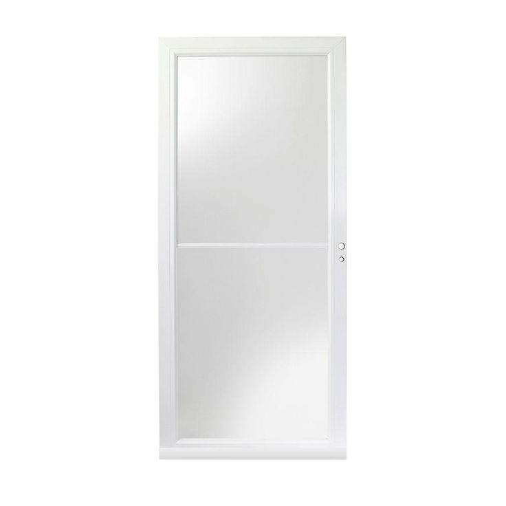 Andersen 3000 Series 36 in. White Self-Storing Right-Hand Storm Door with Fast and Easy Installation System