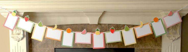 Two-tti Fruity Photo Banner, Tutti Frutti Photo Banner, Picture Banner, Second Birthday, Birthday Photo Display by ConfettiPartyCompany on Etsy