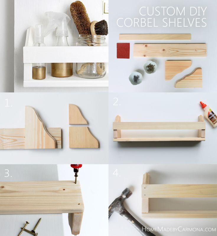 How To Make Custom DIY Corbel Shelves