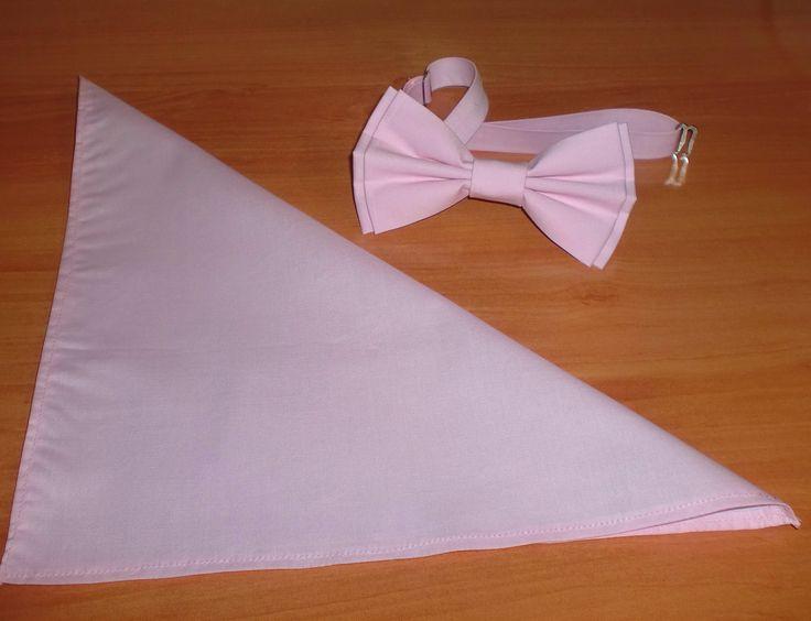 Conjunto pajarita y pañuelo Pastel