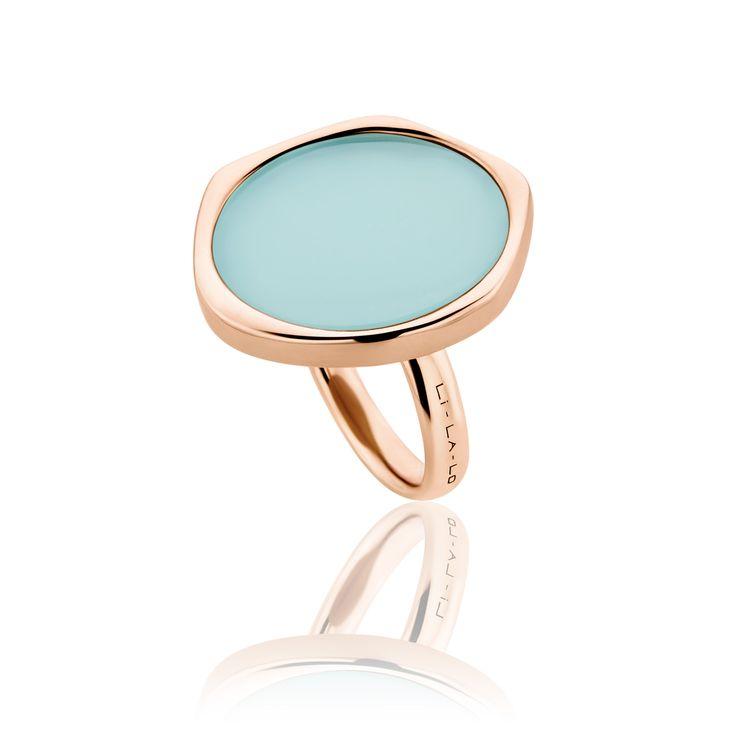 Δαχτυλίδι Aura Collection από ροζ επιχρυσωμένο ασήμι 925º με αμαζονίτη