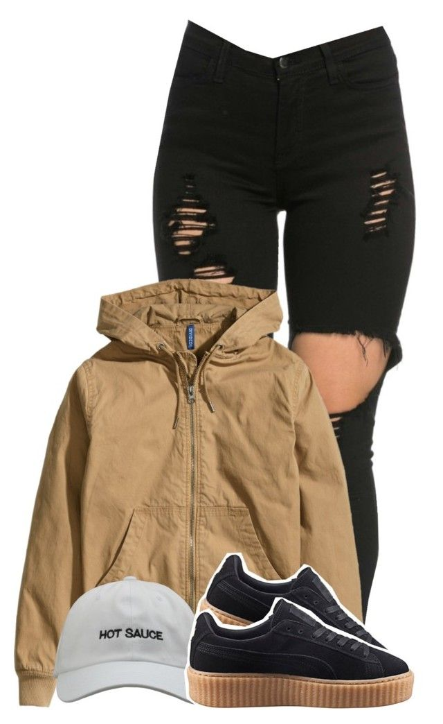 """7/21"" by trillgolddfashionn ❤ liked on Polyvore featuring H&M and Puma"