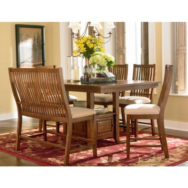 Keep It Stylish With The Tulsa Collectionu0027s Mission Style Gathering Height  Dining Set. #Comfort