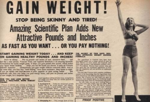 Ladies, when was the last time an ad campaign marketed to you implored you to GAIN weight. Times have changed.