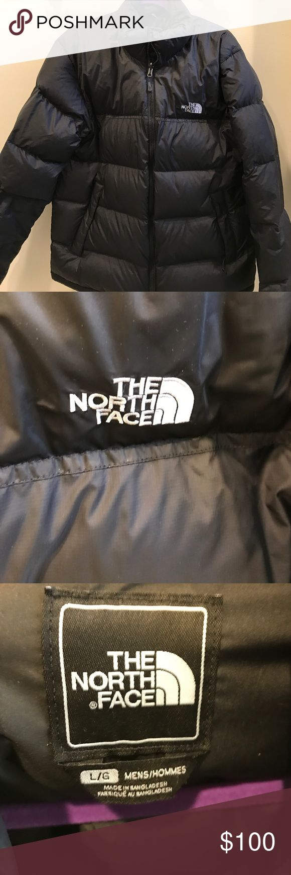 MENS NORTH FACE NUPTSE JACKET (Size L) Gently used Men's Nuptse North Face Jacket in black, size large. *no trades, all offers will be considered North Face Jackets & Coats Puffers