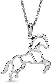 109 best necklace images on pinterest horse horses and jewerly zales diamond accent stallion horse pendant in sterling silver aloadofball Gallery