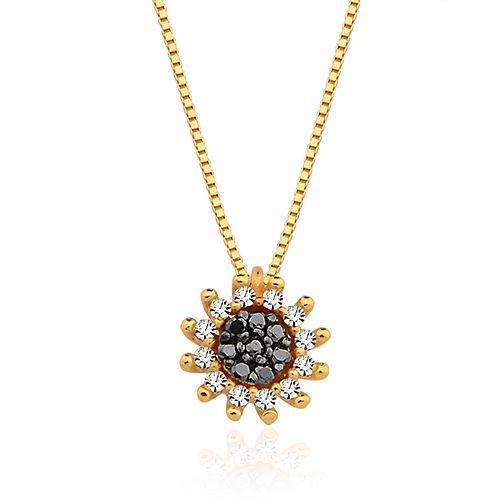 Colar em ouro amarelo 18k e 10 pts de diamantes - Coleção Melindre