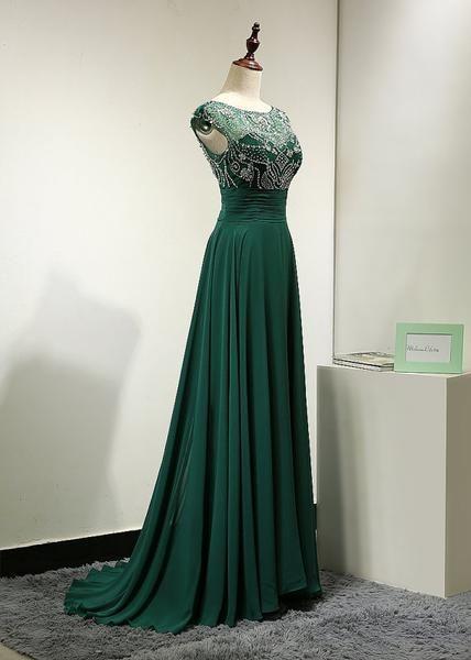 elegant cheap chiffon formal beaded green long prom dress b2fba878e