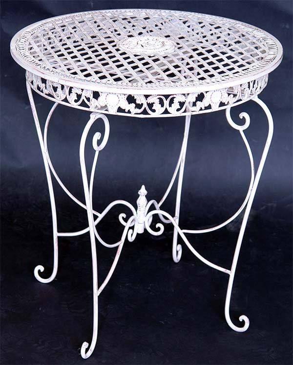 Gartentisch rund weiß  Die besten 25+ Gartentisch rund metall Ideen auf Pinterest ...