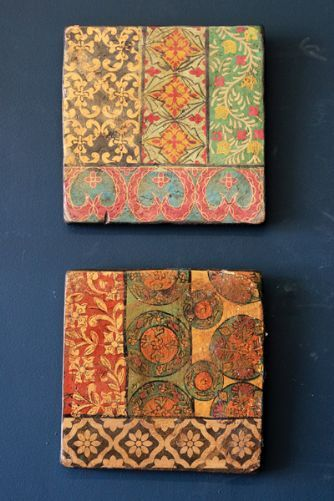 Hand Painted Terracotta Tile - Athena and Agata