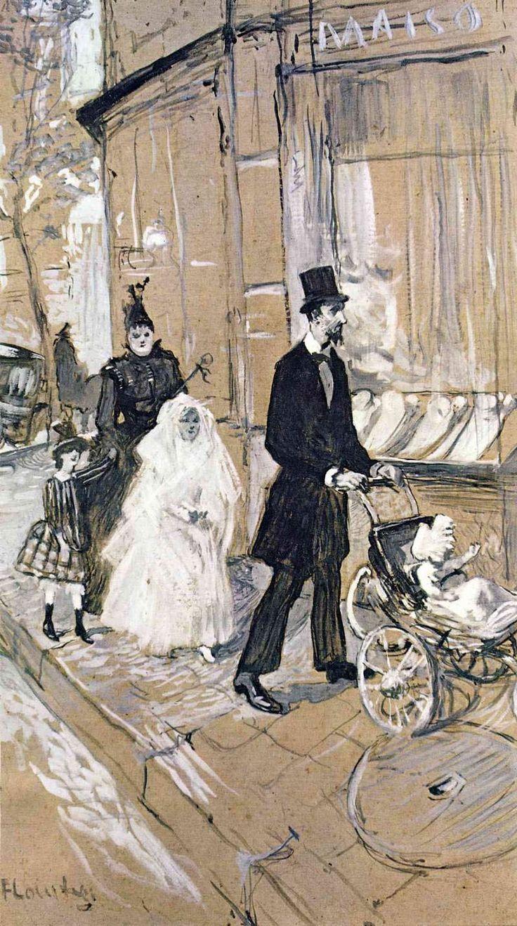 Анри де Тулуз-Лотрек. День первого причастия в Париже. 1888.