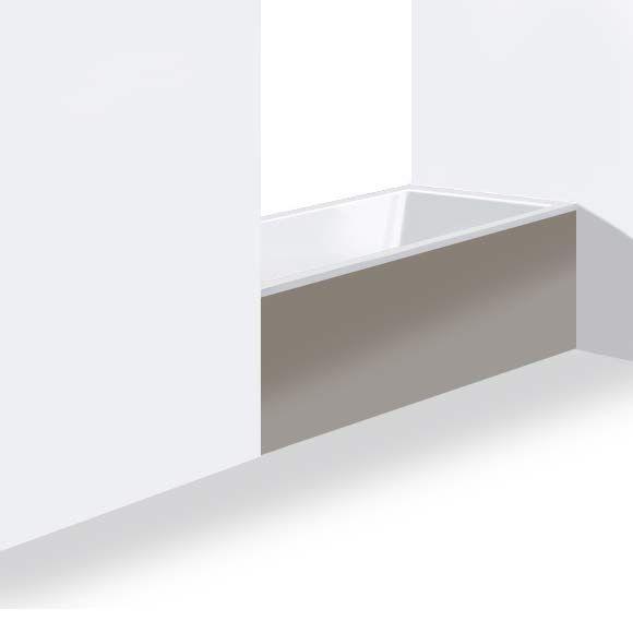 Attractive Duravit DS8955 DuraStyle 54 3/4 Inch Panel For Niche For 700233000000090  Bathtub