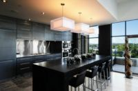 Modern Kitchen Cabinets Black, a Choice for Bold Appearance