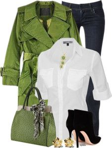 how to wear green trench coat polyvore outfit bmodish
