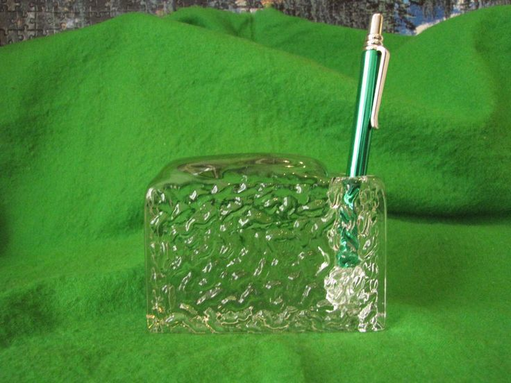 Sweden art Glass Pen Holders office home Decor Pukeberg #Pukeberg