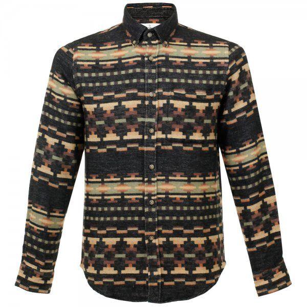 Portuguese Flannel UK | Flores LS Black Flannel Shirt