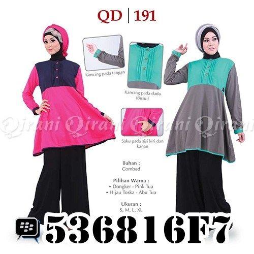 Koleksi Baju Muslim Qirani Dewasa 191. Order via: SMS/Telp: 0856-5502-3555 Whatsapp: +6285655023555 BBM: 5F497666