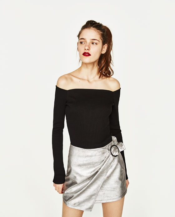 Image 1 of BOATNECK T-SHIRT from Zara