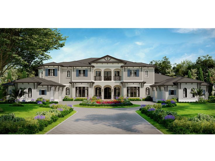 069h 0071 Premier Luxury House Plan With Mediterranean Flair 11653 Sf Mediterranean House Plans Luxury House Plans Two Story House Plans