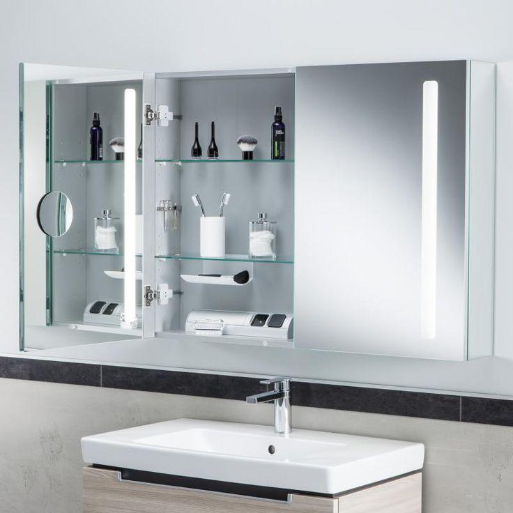 Die besten 25+ Spiegelschrank mit beleuchtung Ideen auf Pinterest - badezimmerschrank mit spiegel