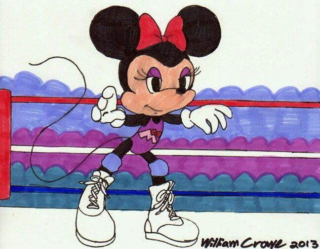 Minnie Mouse As A Lady Wrestler Armchair Warrior