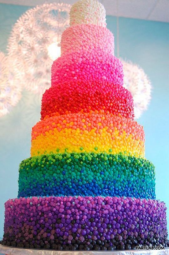 Rainbow candy cake-this looks spectacular!