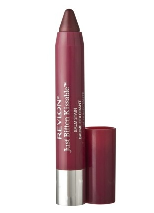 Revlon Just Bitten Kissable Balm Stain in Crush, a beautiful soft berry color. Gorgeous for Fall.