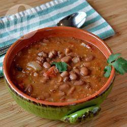 Photo de recette : Haricots pinto aux tomates