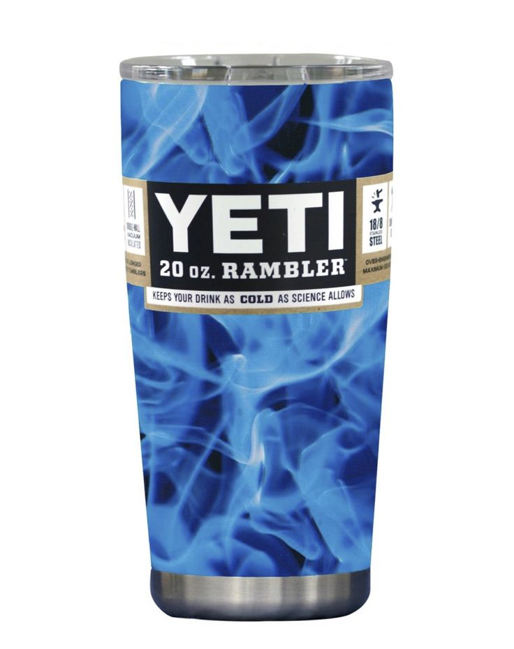Blue Smoke YETI 20 Oz Rambler Tumbler Cup