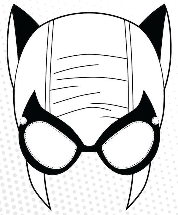 Marvel Black Cat Mask Template - Bigstackstudios.com