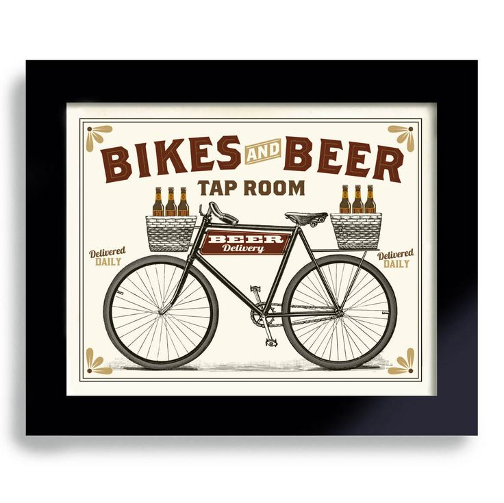 Bicycle Art, Beer Art, Bike Art, Beer Sign, Cycling Art, Beer Gift Bike Enthusiast Bar Decor Office Art Vintage Inspired by DexMex on Etsy https://www.etsy.com/listing/168053906/bicycle-art-beer-art-bike-art-beer-sign