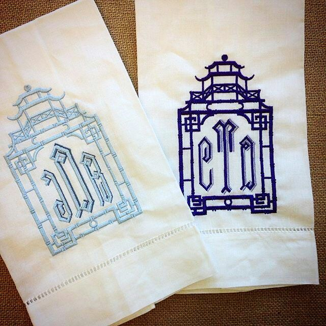 Lots of love for our exclusive Pagoda Monogram! #pagoda #monogrameverything #halohomebyksw