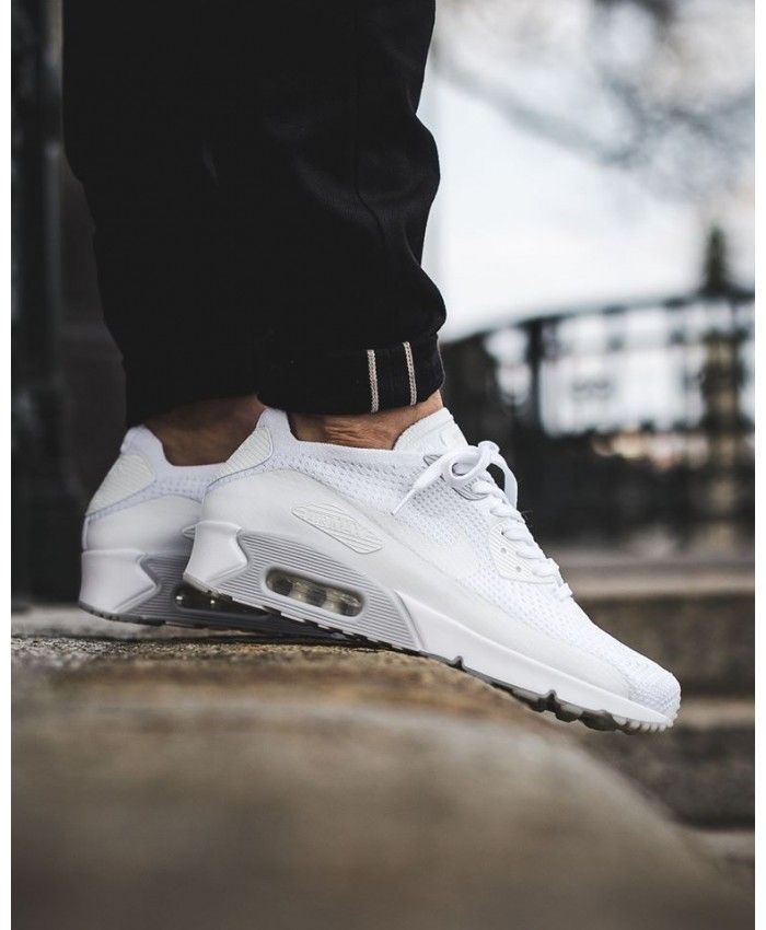 promo code ae5c1 17d6c Cheap Nike Air Max 90 Ultra 2.0 Flyknit White Pure Platinum Womens