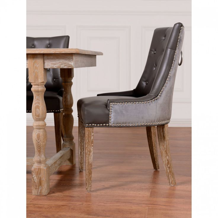 Best 25 Leather Dining Room Chairs Ideas On Pinterest  Leather Unique Leather Dining Room Sets Design Inspiration
