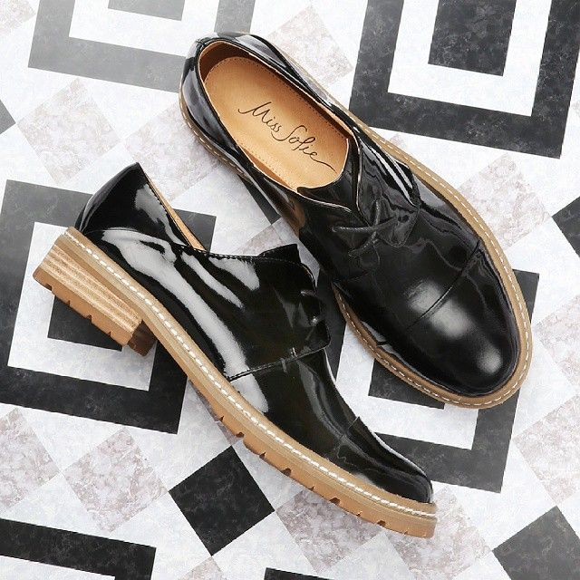 Obsessed with the new Miss Sofie - Georgie oxfords in black patent! http://www.shoeconnection.co.nz/products/M0UQER4L1AA