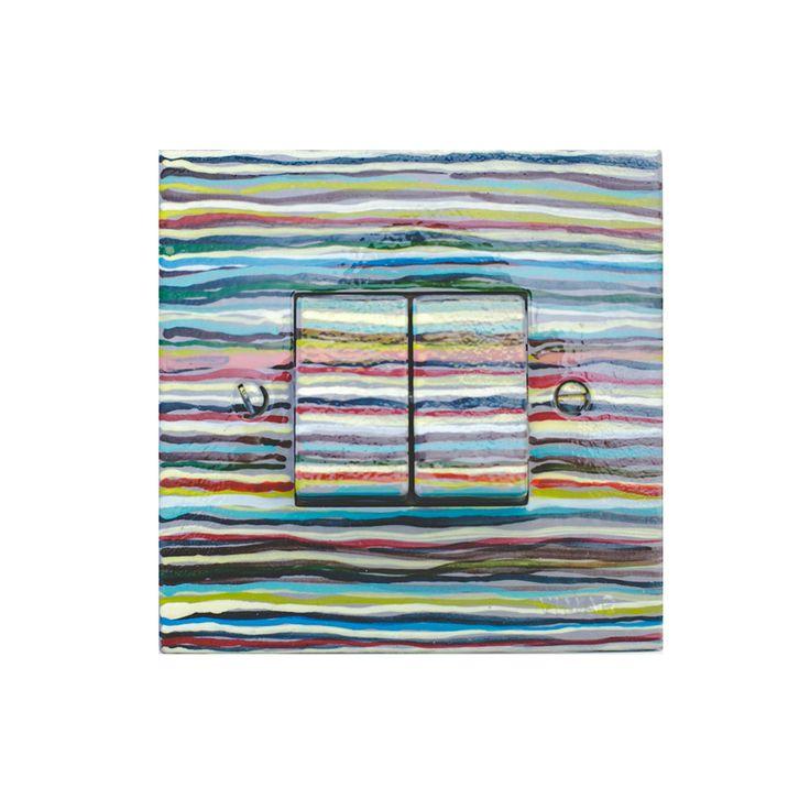 """διπλος διακοπτης """"colored stripes"""""""