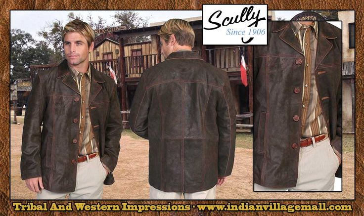 Scully Scully 3/4 Length Leather Car Coat- From Tribal And Western ...
