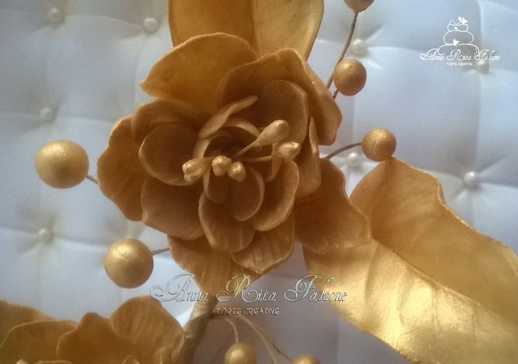 Gold sugar flower